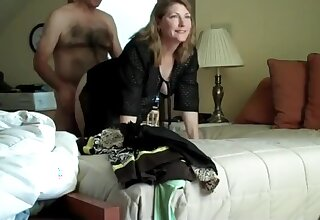 Secretary cheating husband with her Mr Big brass on business driveway