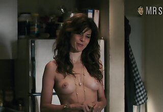Nice natural tits on every side suckable nipples belonged to Marisa Book are flashed