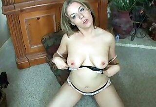 Alone knick-knack addicted chubby lady on every side big boobies masturbates personally