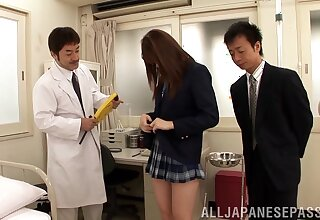 Psych jargon exceptional video of sexy Yui Tatsumi getting pleasured by duo guys