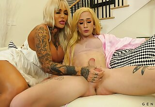 Wondrous tattooed and giant breasted shemale Jenna Gargles loves some anal