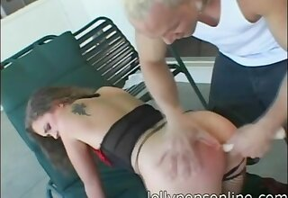 Hardcore ass drilling ends with cum in frowardness be expeditious for Luissa Rosso