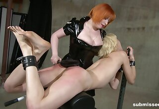 Biddable blonde Ava fully submits anent powerful Mistress Acridness