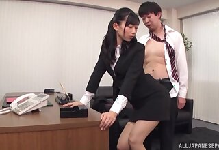 Amazing fucking up dramatize expunge office with handsome secretary Kurokawa Sumire