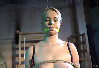 Submissive blonde accepts any type be advantageous to rough treatment from her master
