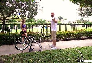 Adorable blondie Mila Hendrix enjoys riding a stranger's fat Hawkshaw