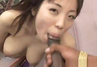 Mei Amazaki Asian doll gives a hot part6
