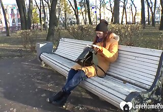 Russian beauty pupil so lonely this autumn