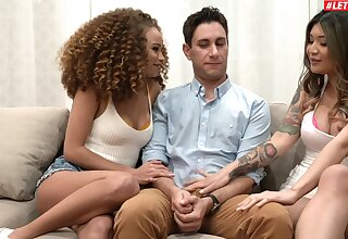 One enduring dick is enough to please Brenna Sparks and Cecilia Lion