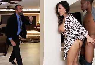 Hubby returned when housewife rails BIG Treacherous COCK