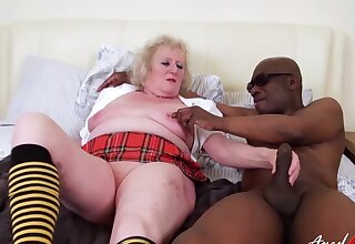 Three adult people duo female and one produce lead on enjoying hardcore fun together