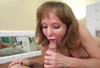 Mature woman sucking a young dick in HD POV video - Cyndi Sinclair