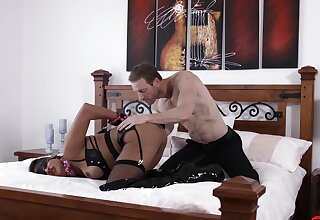 BDSM fetish video with maledom over blonde Mercedes Carrera