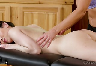 Zealous India Summer is lusty masseuse who enjoys lesbian 69 position