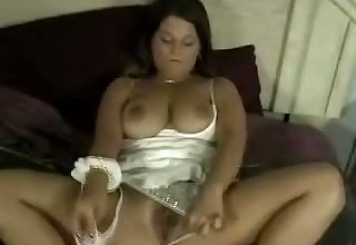 Julie has a panty sniffing fetish and she loves that soft material on her face