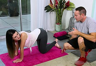 Working out with her father