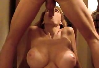 Facial cumshot blonde plays with dick and begs of facial
