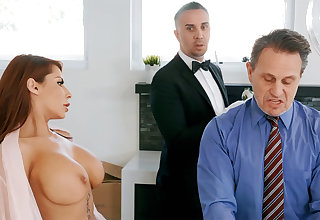 Horny waitress is ready connected with anal fuck housewife