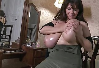 Affable breasty experienced lady in ultra glam fetish fun