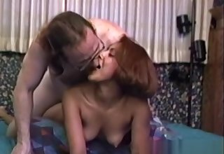 Vintage amateur fucked all over tricky sextape