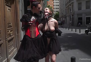 Silvia Rubi adores wholeness about blowjob with the addition of humiliation in the public