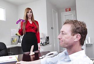 hot sob sister Lauren Phillips adores fuck in the cards explore in her office
