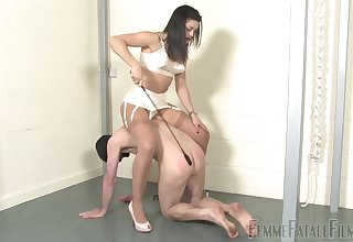 Medial unilluminated whips her man and forces him to obey