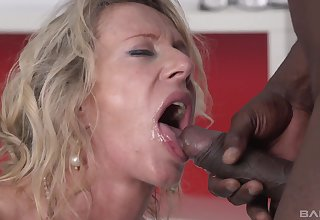 Jumping on a black cock is the favorite amusement of milf Marina Beaulieu