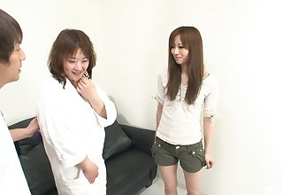 Kinky plus nasty Japanese likes fro play all lesbian coitus mafficking celebrations