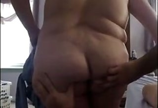 Extremely chubby whore flashes say no to ass and tits on hidden cam