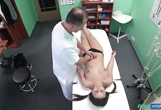 Doctor fucks his kinky at all events Anina Silk on the hidden camera