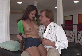 Natural body Tristen Berrimore seduced and fucked by an older guy