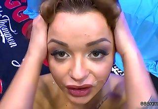 Daphne klyde gets cums and facials after sucks