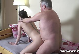 Fresh naughty young main Nana Garnet is hammered mish and doggy wide of older man