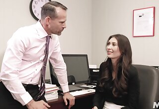 Office skirt Angelina Diamanti works hard to obtain ahead at her job