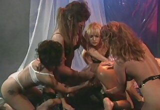 Retro video of lesbians having relaxation with time again of sex toys