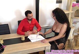 Curly seta german brunette fuck on table